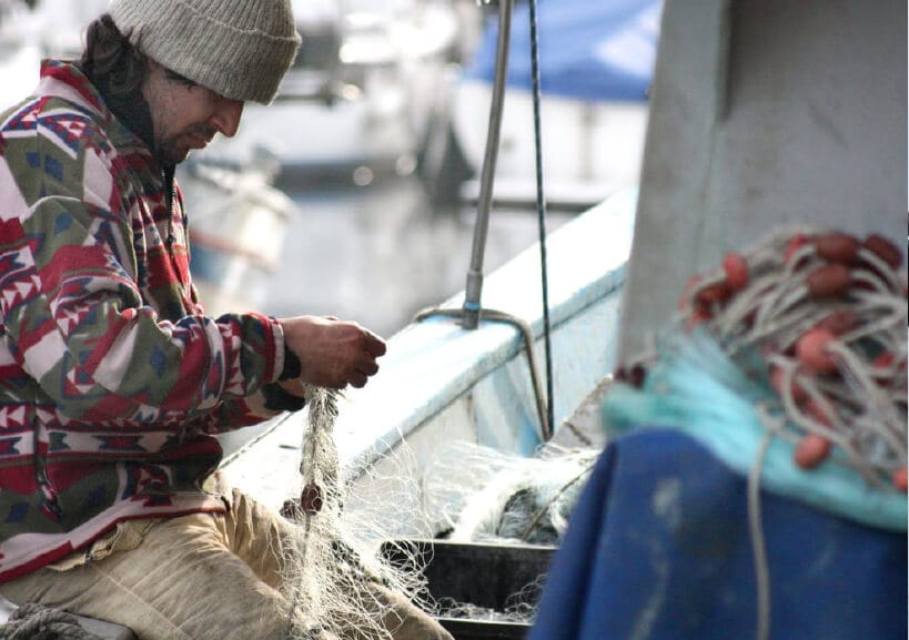 Fishmens mission nets fishing cods scallops supporting local donation